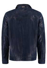 DNR Jackets - MIT REISSVERSCHLUSS - Leather jacket - dark blue - 1