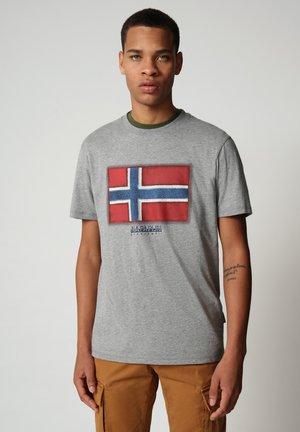 SIROL - Print T-shirt - medium grey melange
