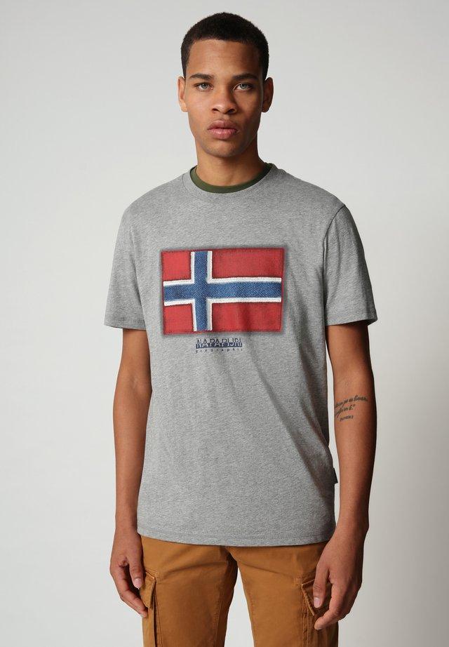 SIROL - T-shirt print - medium grey melange