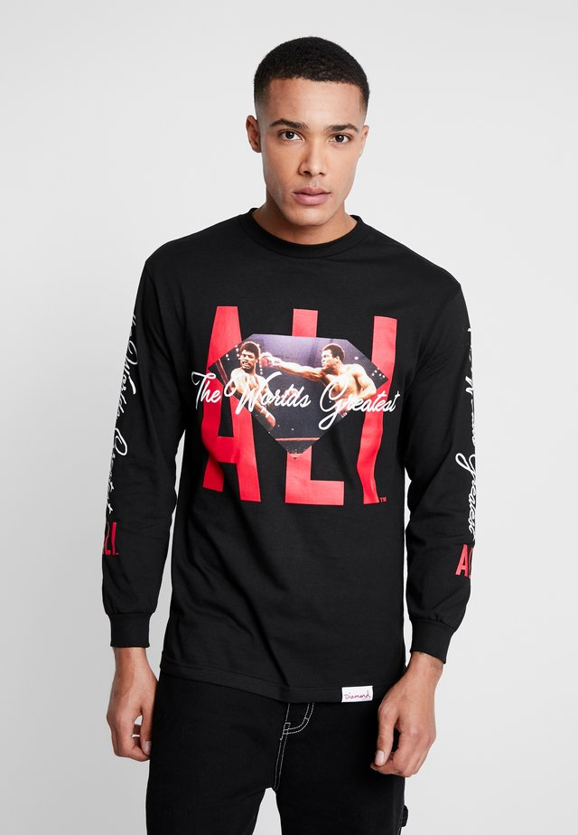 ALI SIGN LONG SLEEVE TEE - Long sleeved top - black