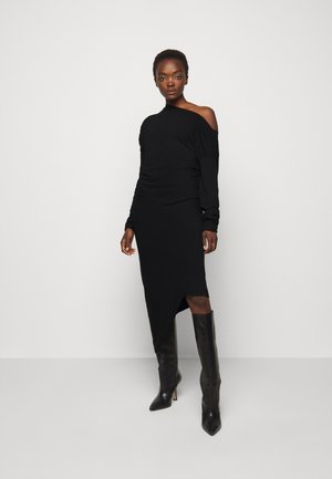 RAY DRESS - Jersey dress - black