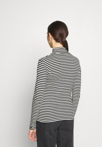Benetton - TURTLE NECK  - Long sleeved top - black/white - 2