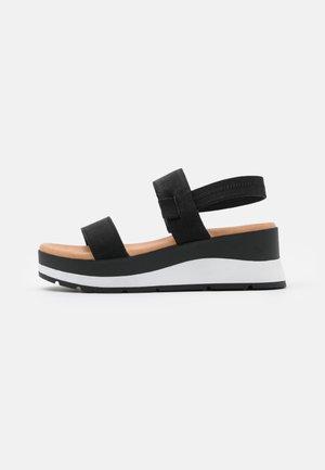 MOEDDA - Sandały na platformie - black