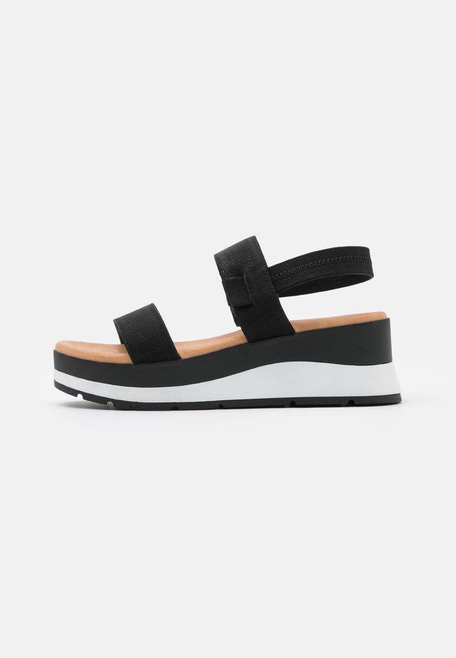 MOEDDA - Platform sandals - black