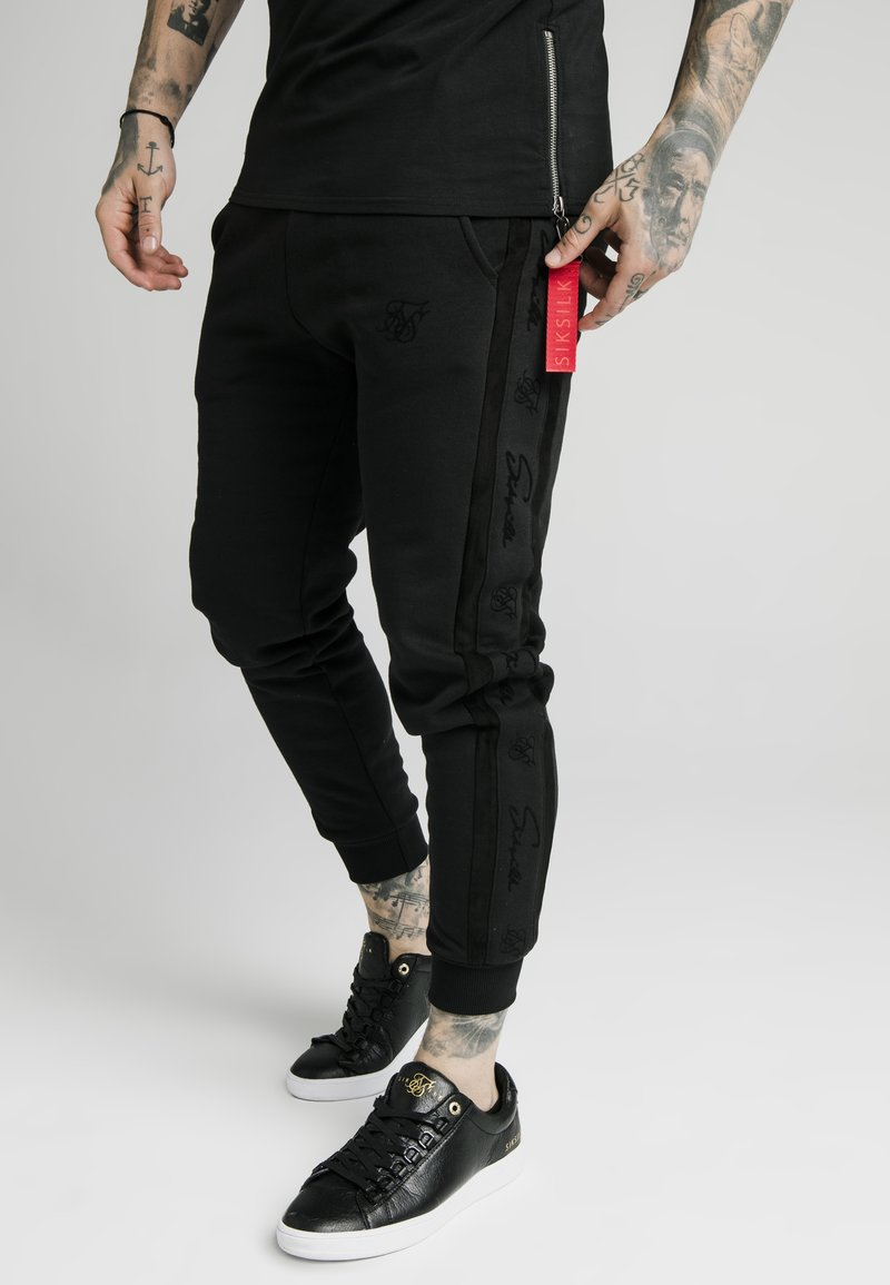 SIKSILK - CUFF PANTS - Trainingsbroek - black