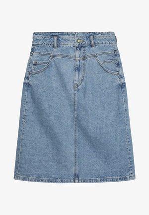 ALINE SKIRT - A-line skirt - blue medium wash