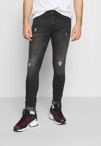 Jack & Jones - JJILIAM JJORIGINAL  - Jeans Skinny Fit - black denim - 0