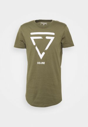 JCONEWHOLM TEE CREW NECK - Print T-shirt - dusty olive