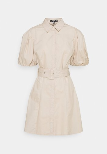 BELTED SHIRT DRESS - Shirt dress - stone