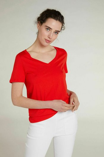 Basic T-shirt - fiery red
