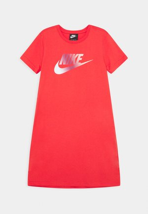DRESS FUTURA - Robe en jersey - track red/washed coral