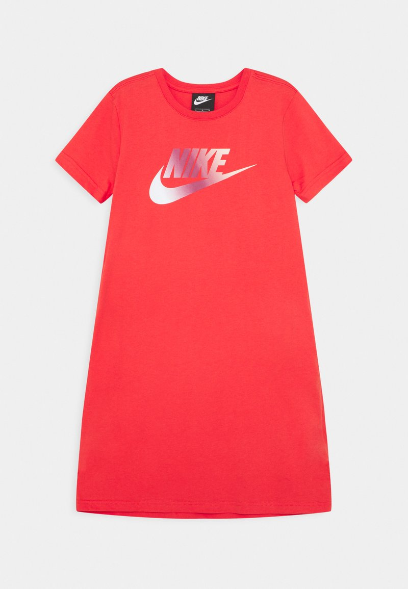 Nike Sportswear - DRESS FUTURA - Robe en jersey - track red/washed coral