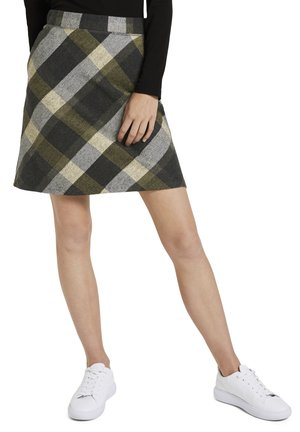 A-Linien-Rock - black yellow check knitted
