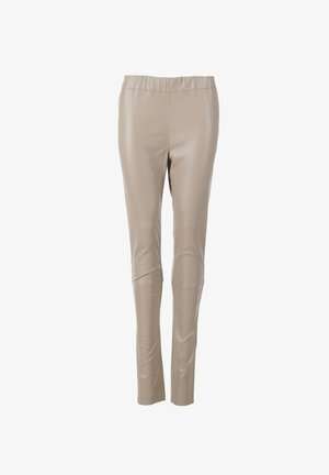 Leather trousers - mud