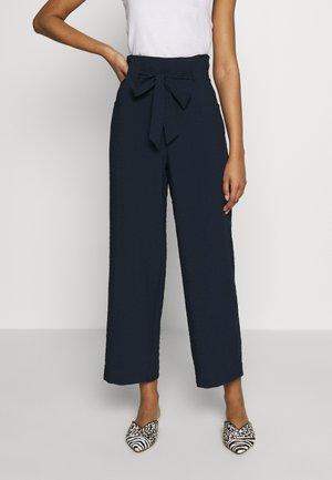 VILINEA WIDE PANTS - Trousers - navy blazer