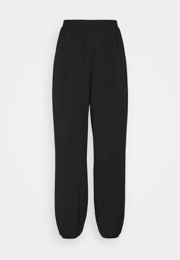 NA-KD X ZALANDO EXCLUSIVE - SPORTY FABRIC PANTS - Träningsbyxor - black