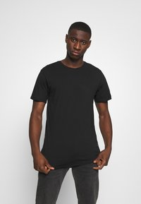 Only & Sons - ONSMATT LONGY TEE 3 PACK - Basic T-shirt - light grey melange/white gray/black - 4