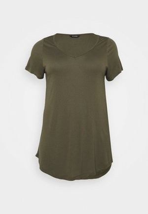 SHORT SLEEVE - Basic T-shirt - khaki