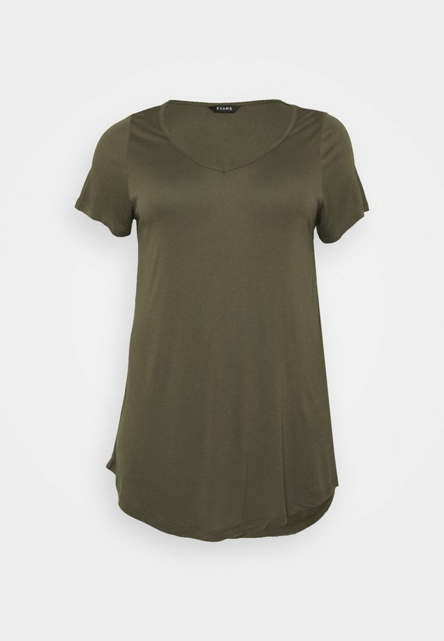 SHORT SLEEVE - T-shirts - khaki