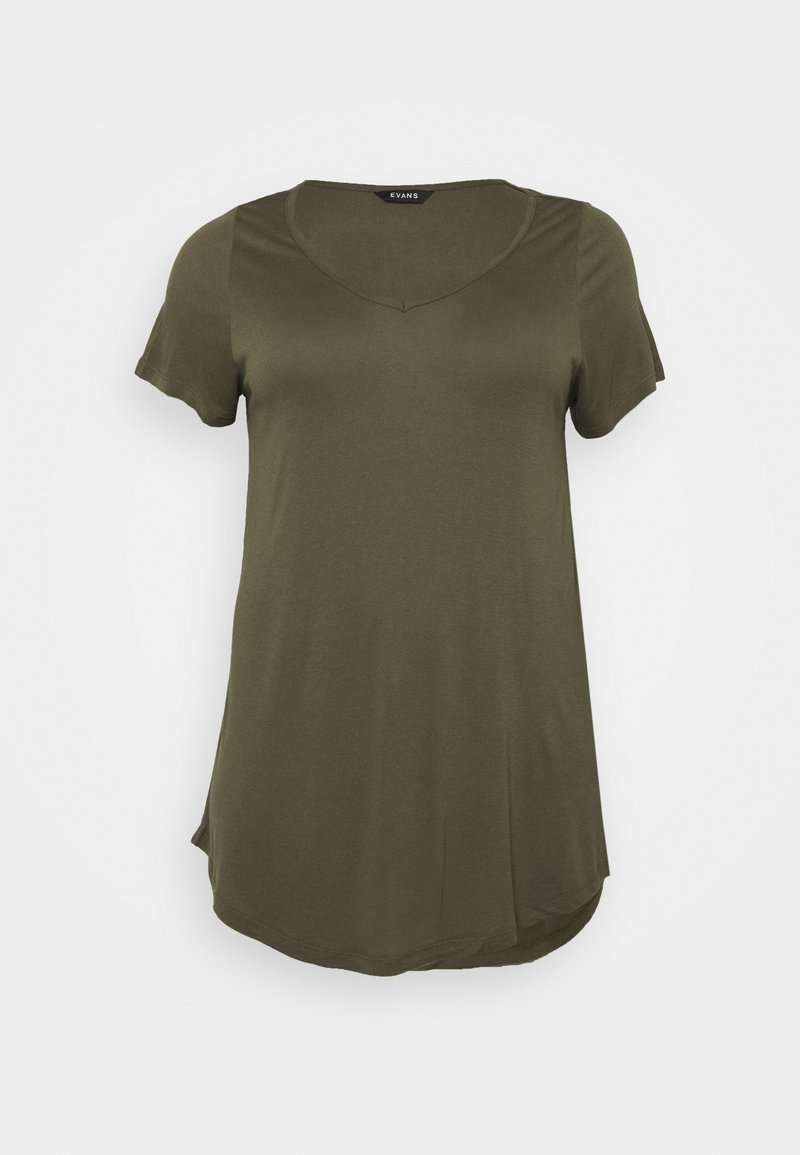 Evans - SHORT SLEEVE - Basic T-shirt - khaki