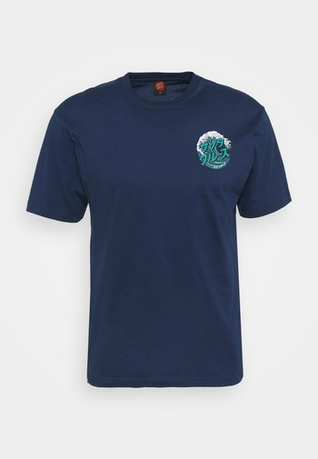 JAPANESE WAVE DOT UNISEX - Print T-shirt - dark navy