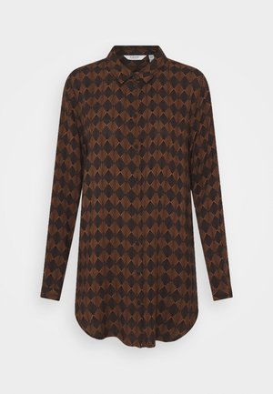 BYJOSA LONG - Button-down blouse - toffee