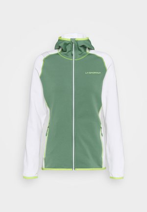 ALARIS HOODY - Fleece jacket - grass green/white