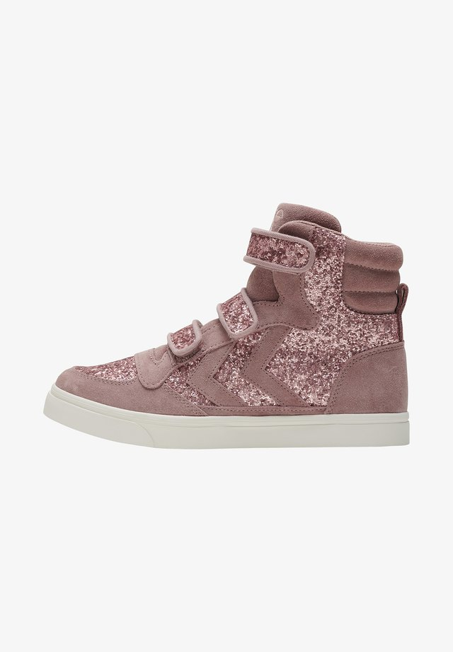 STADIL GLITTER - High-top trainers - deauville mauve