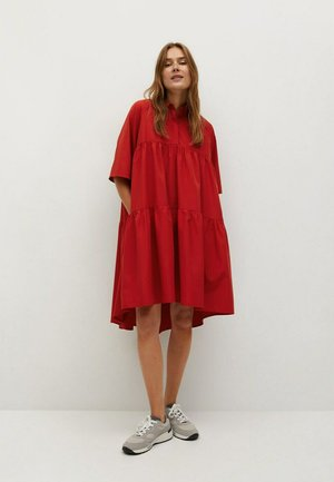HOLLY-H - Robe chemise - rojo