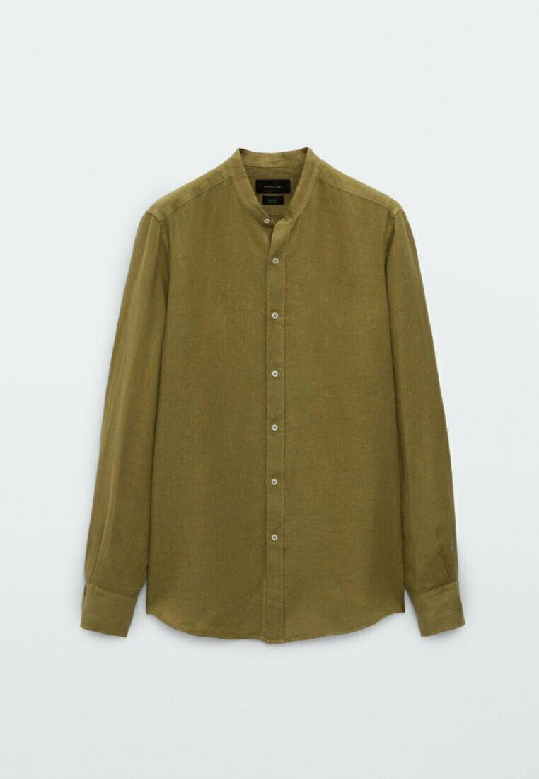Men SLIM-FIT-HEMD AUS REINEM LEINEN MIT MAOKRAGEN 00101301 - Shirt