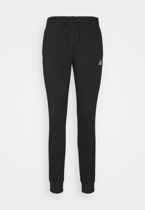 ESSENTIALS FRENCH TERRY STRIPES PANTS - Träningsbyxor - black/white