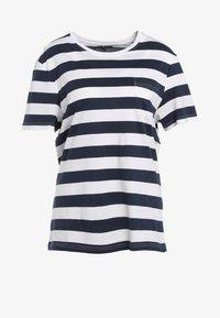 YOURTURN - Print T-shirt - dark blue/white - 4
