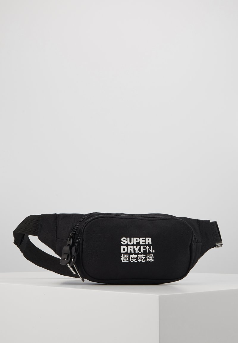 Superdry - SMALL BUMBAG - Ledvinka - black