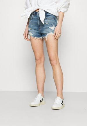 MOM - Jeansshorts - blue denim