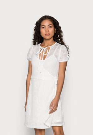 WRAP MINI DRESS - Vapaa-ajan mekko - white