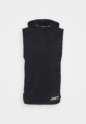 STEPHEN CURRY SLEEVELESS HOODY - Mikina s kapucí - black