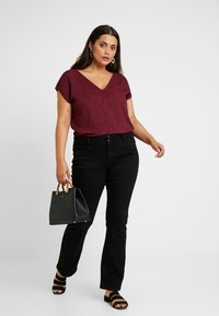 Even&Odd Curvy - Blouse - dark red/black - 1