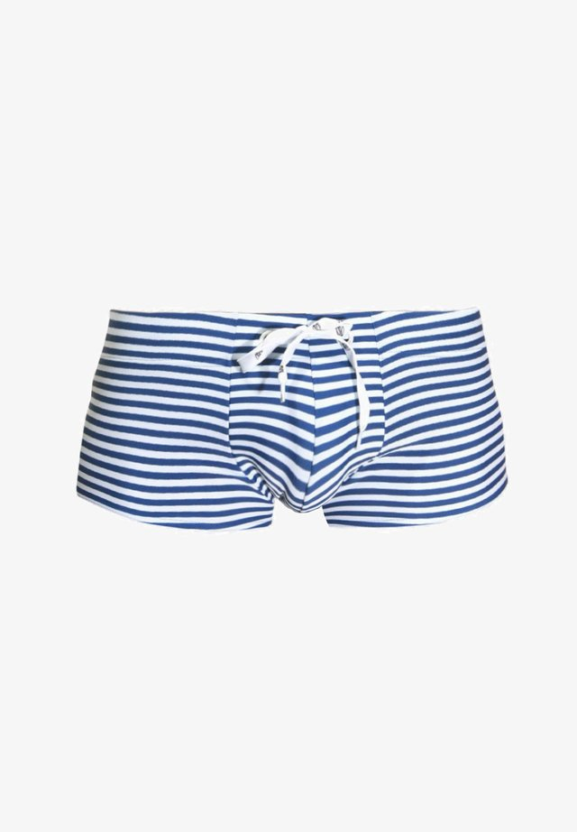 Swimming trunks - blau/weiss