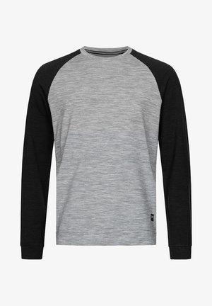 MERINO SWEATSHIRT M SIGNATURE CONTRAST CREW - Sweatshirt - grau