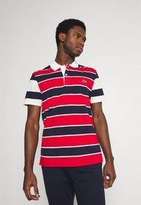 Lacoste - Polo shirt - rouge/marine naturel/clair blanc - 0