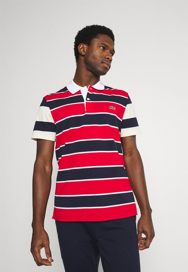 Lacoste - Polo shirt - rouge/marine naturel/clair blanc