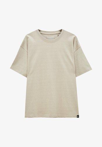Basic T-shirt - mottled beige