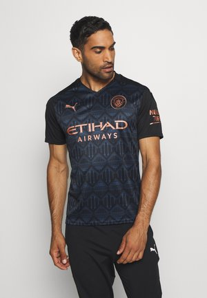 MANCHESTER CITY AWAY SHIRT REPLICA - Klubtrøjer - black/dark denim