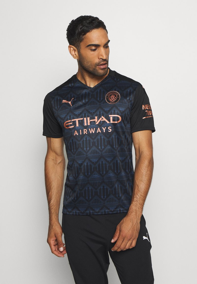 Puma - MANCHESTER CITY AWAY SHIRT REPLICA - Club wear - black/dark denim