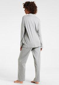 Lauren Ralph Lauren - HAMMOND CLASSIC NOTCH COLLAR  - Pyjama set - heather grey - 2
