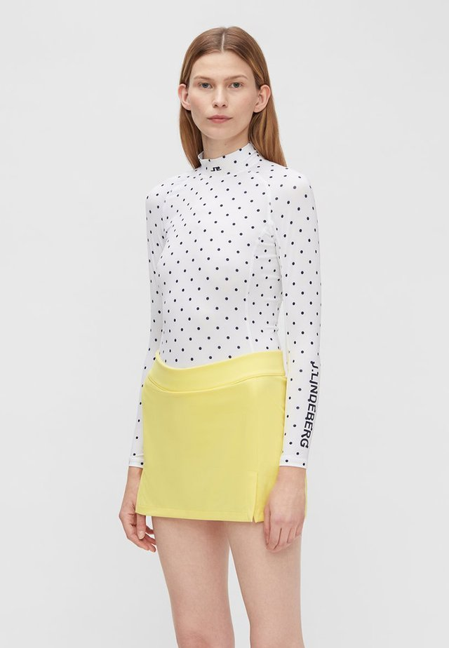 JLI COMPRESSION - Long sleeved top - polka dot white navy