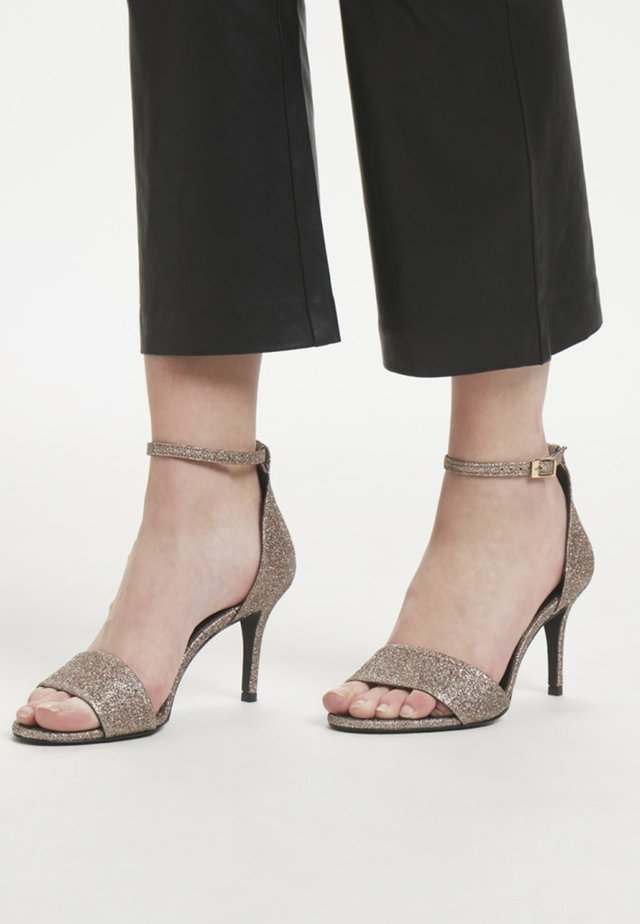 ADIRA - High heeled sandals - silver
