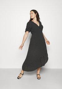 Vero Moda Curve - VMSAGA WRAP ANKLE DRESS - Maxi dress - black - 0
