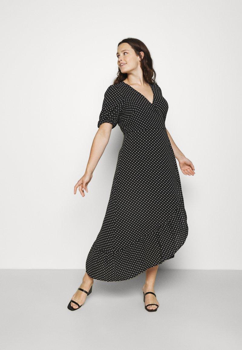 Vero Moda Curve - VMSAGA WRAP ANKLE DRESS - Maxi dress - black