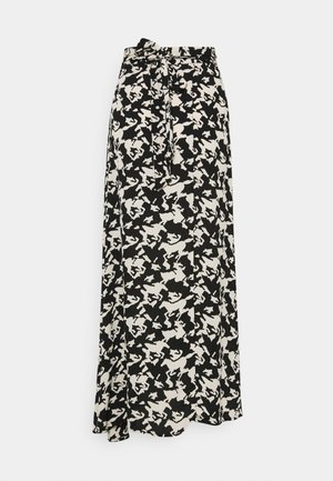 BOBO SKIRT - Omslagsskjørt - black/warm white